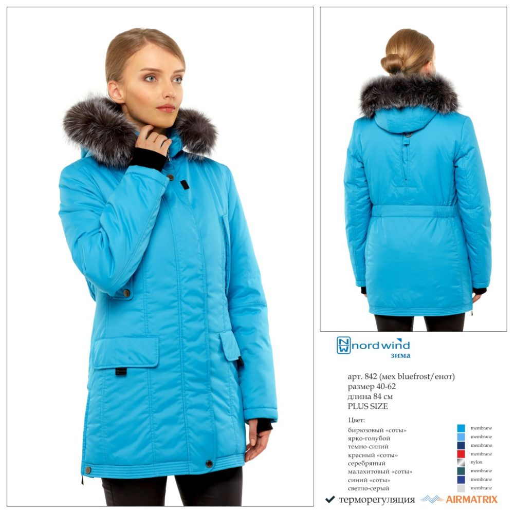 Пальто женское зима 842 Nord Wind — фото 2
