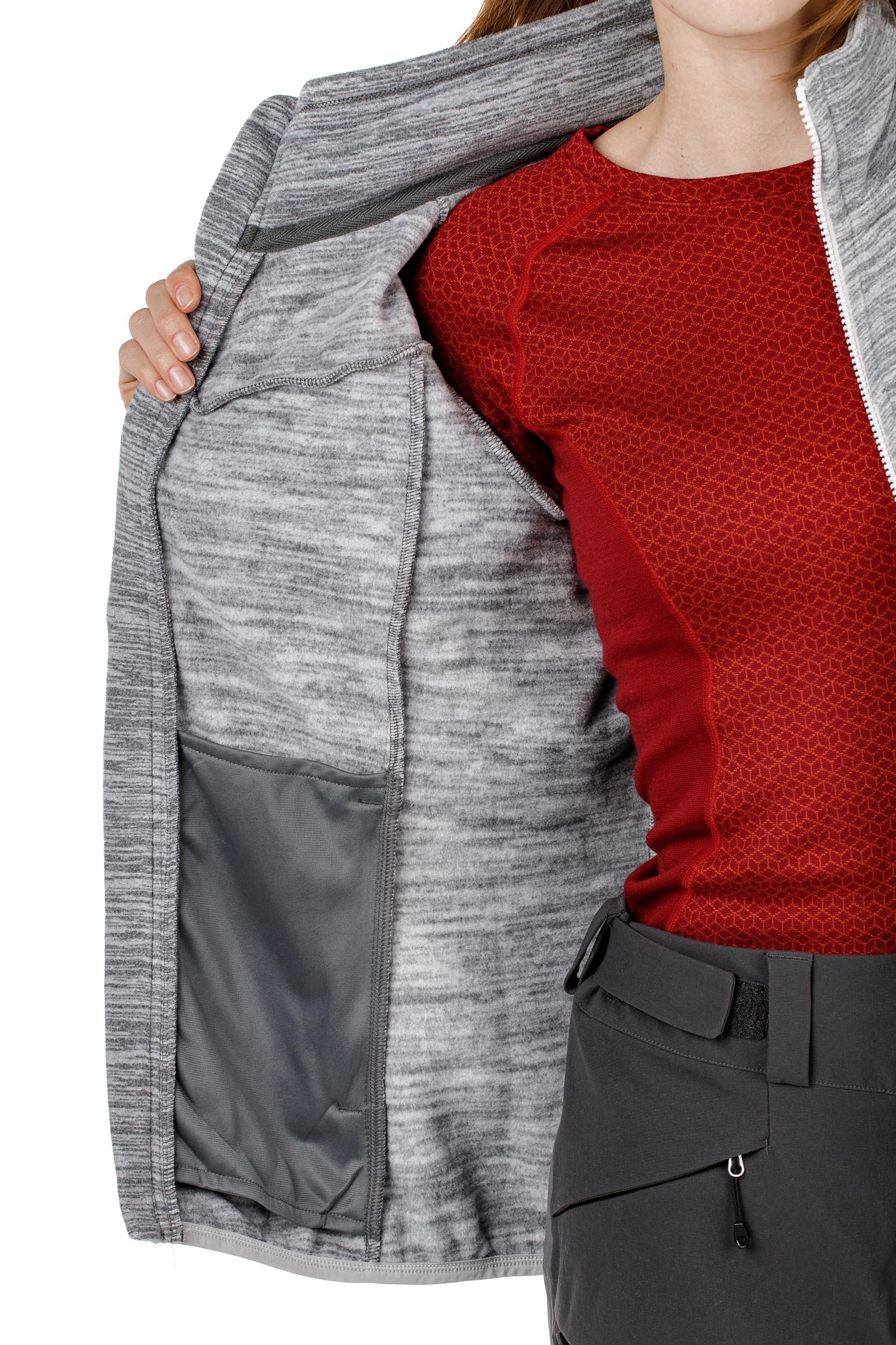 Куртка женская флисовая HAREID NOHOOD Bergans — фото 12