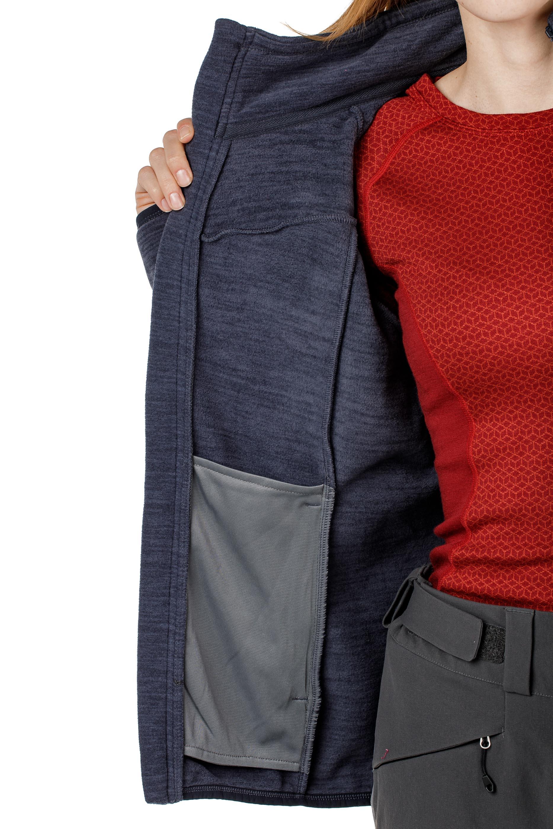 Куртка женская флисовая HAREID NOHOOD Bergans — фото 8