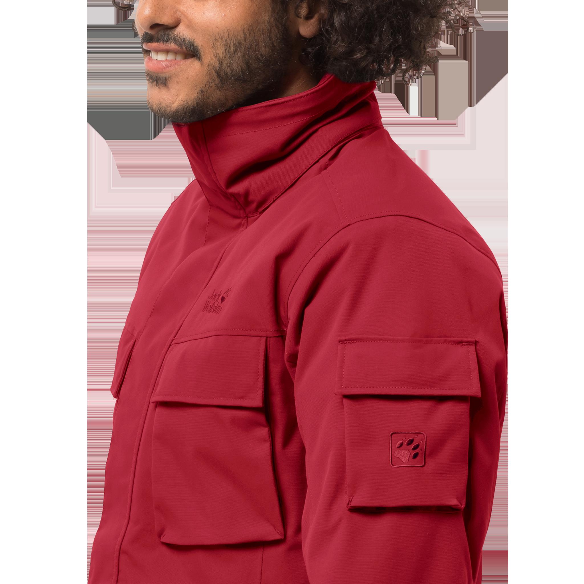 Куртка мужская GLACIER CANYON PARKA красный Jack Wolfskin — фото 4