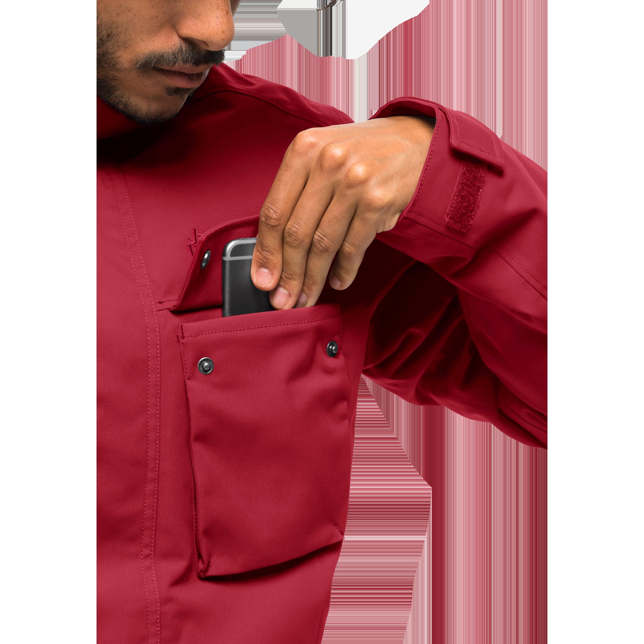 Куртка мужская GLACIER CANYON PARKA красный Jack Wolfskin — фото 7