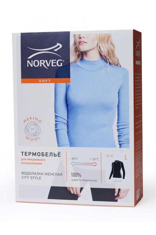 Водолазка женская Soft City Style с выс воротом и  длинным рукавом Norveg — фото 6