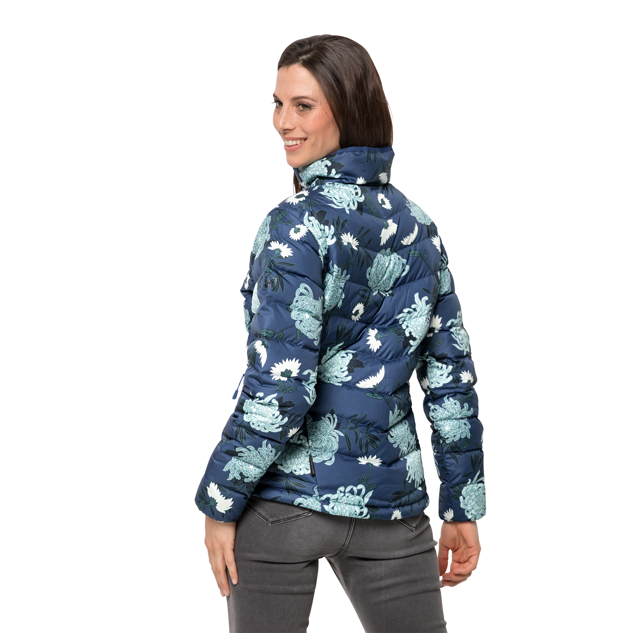 Куртка женская HELIUM HIGH PRINT синий Jack Wolfskin — фото 3
