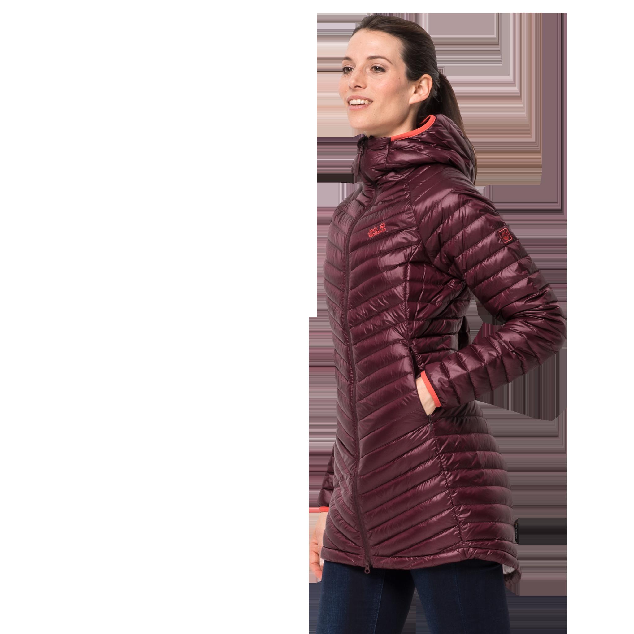 Куртка женская ATMOSPHERE COAT бордовый Jack Wolfskin — фото 4