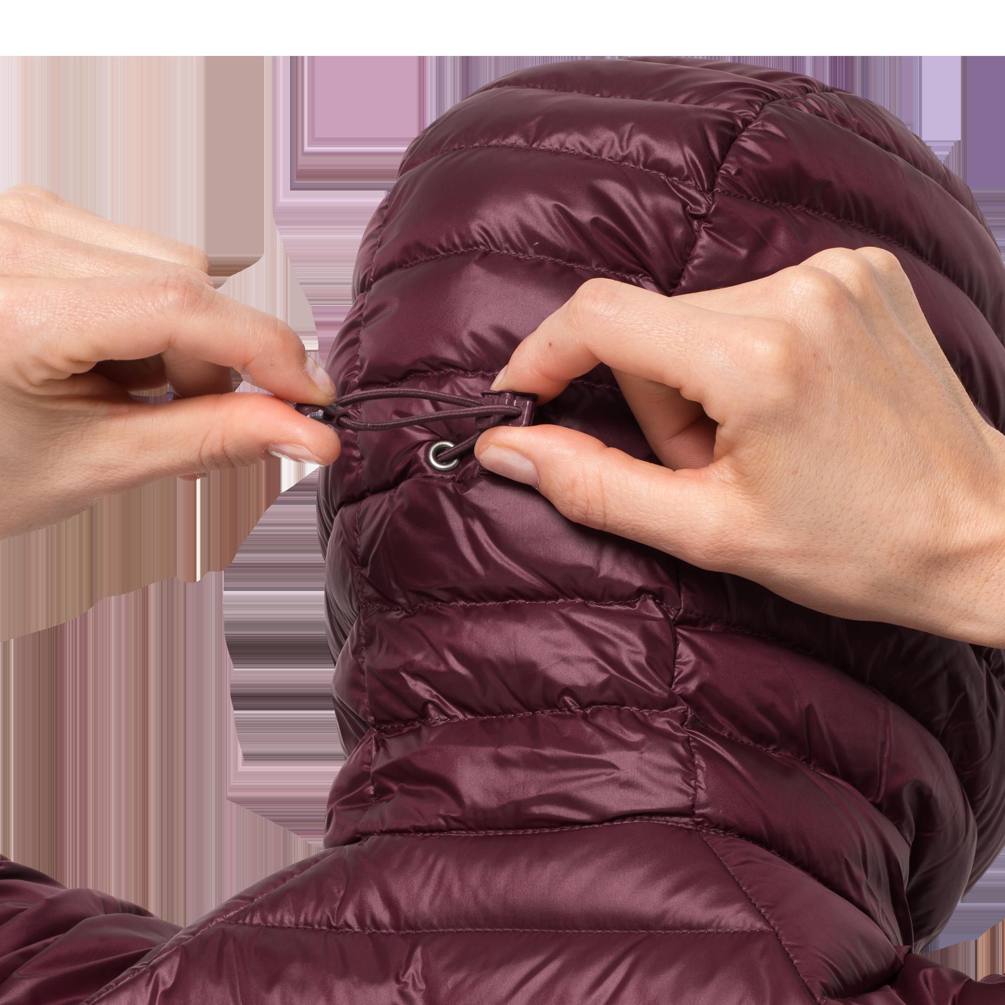 Куртка женская ATMOSPHERE COAT бордовый Jack Wolfskin — фото 5