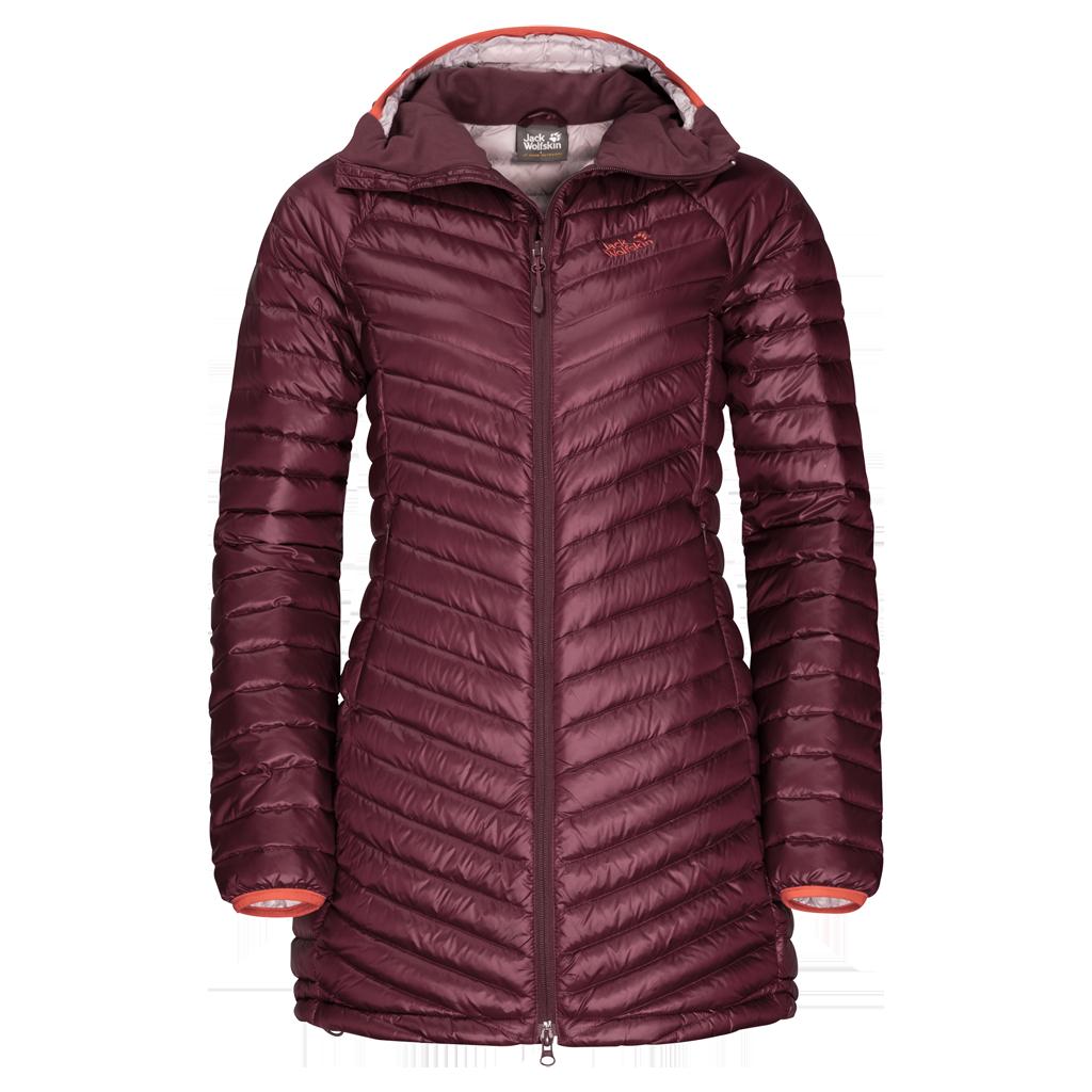 Куртка женская ATMOSPHERE COAT бордовый Jack Wolfskin — фото 1