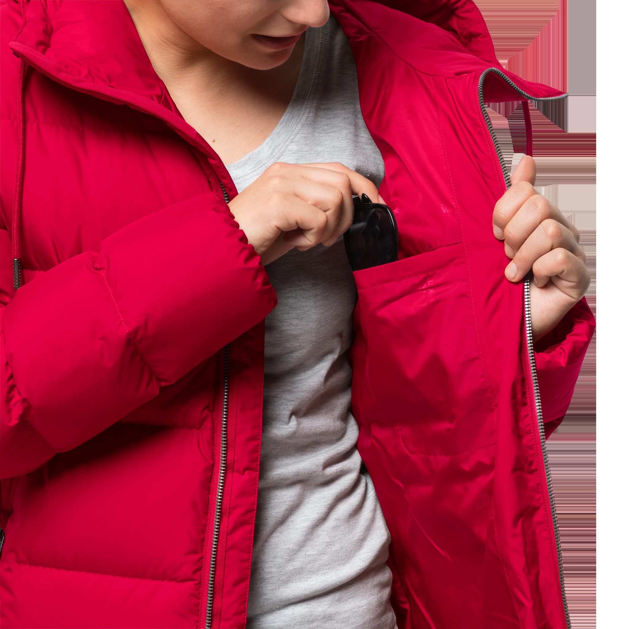 Куртка женская CRYSTAL PALACE COAT красный Jack Wolfskin — фото 4
