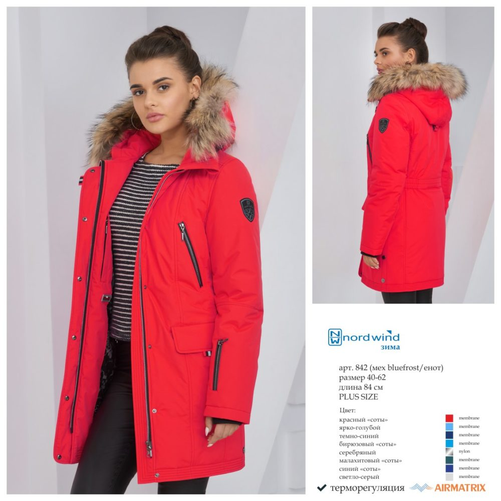 Пальто женское зима 842 Nord Wind — фото 1