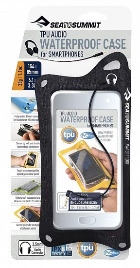 Гермочехол TPU Audio Waterproof Case for Smartphones (Black) Sea To Summit — фото 1