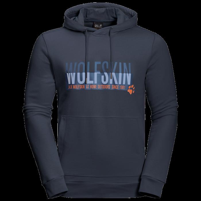 Пуловер мужской SLOGAN HOODY Jack Wolfskin — фото 1