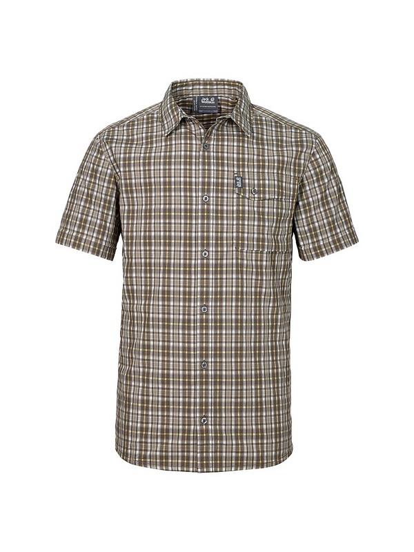 Рубашка мужская CROSSLEY SHORTSLEEVE Jack Wolfskin — фото 1