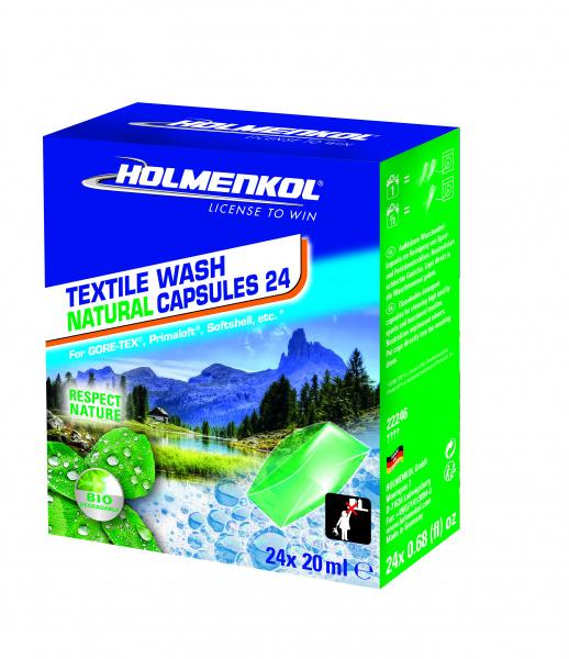 Средство Textile Wash Natural Capsules 30 Holmenkol — фото 2