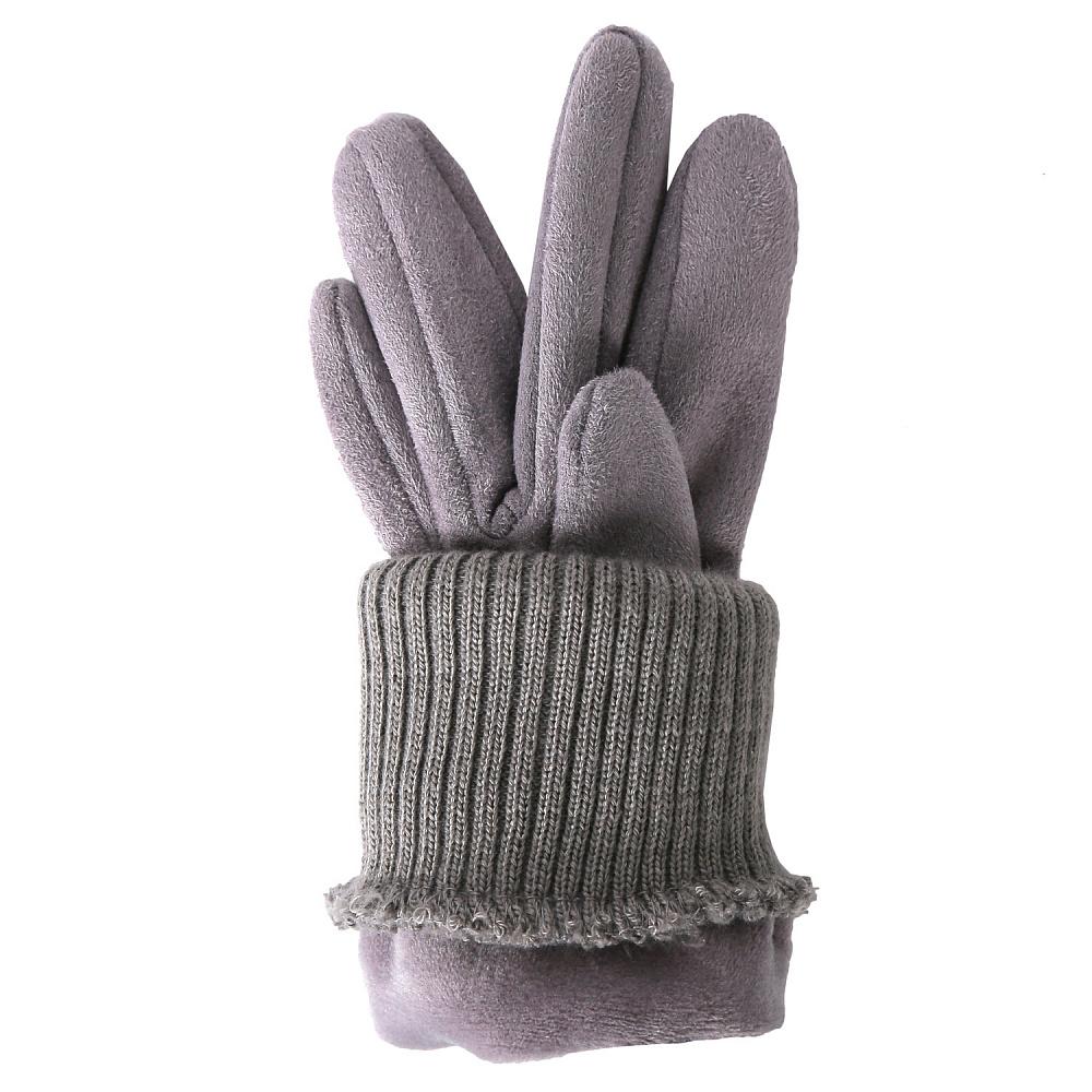 Перчатки женские FABRETTI TH55-39 серый Fabretti — фото 2