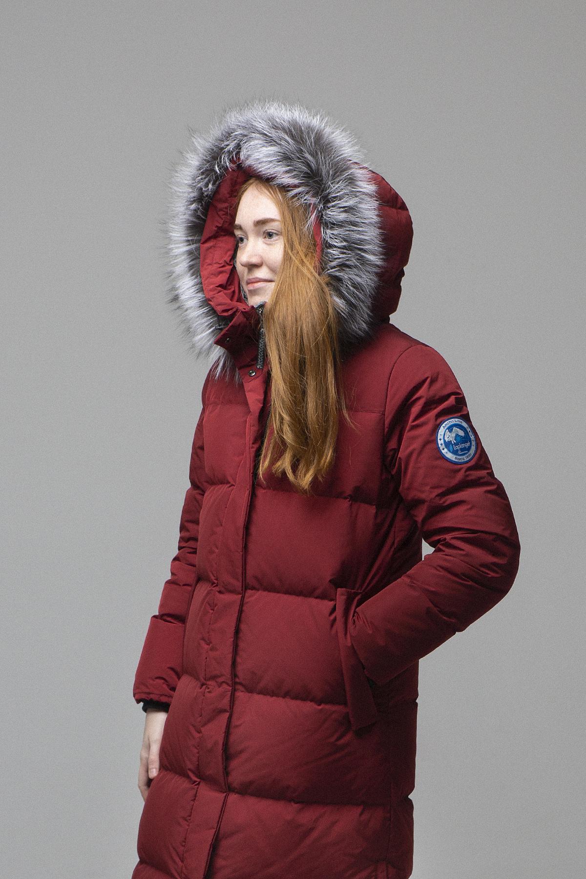 Пальто женское Эстери/NordicE винный Laplanger — фото 4