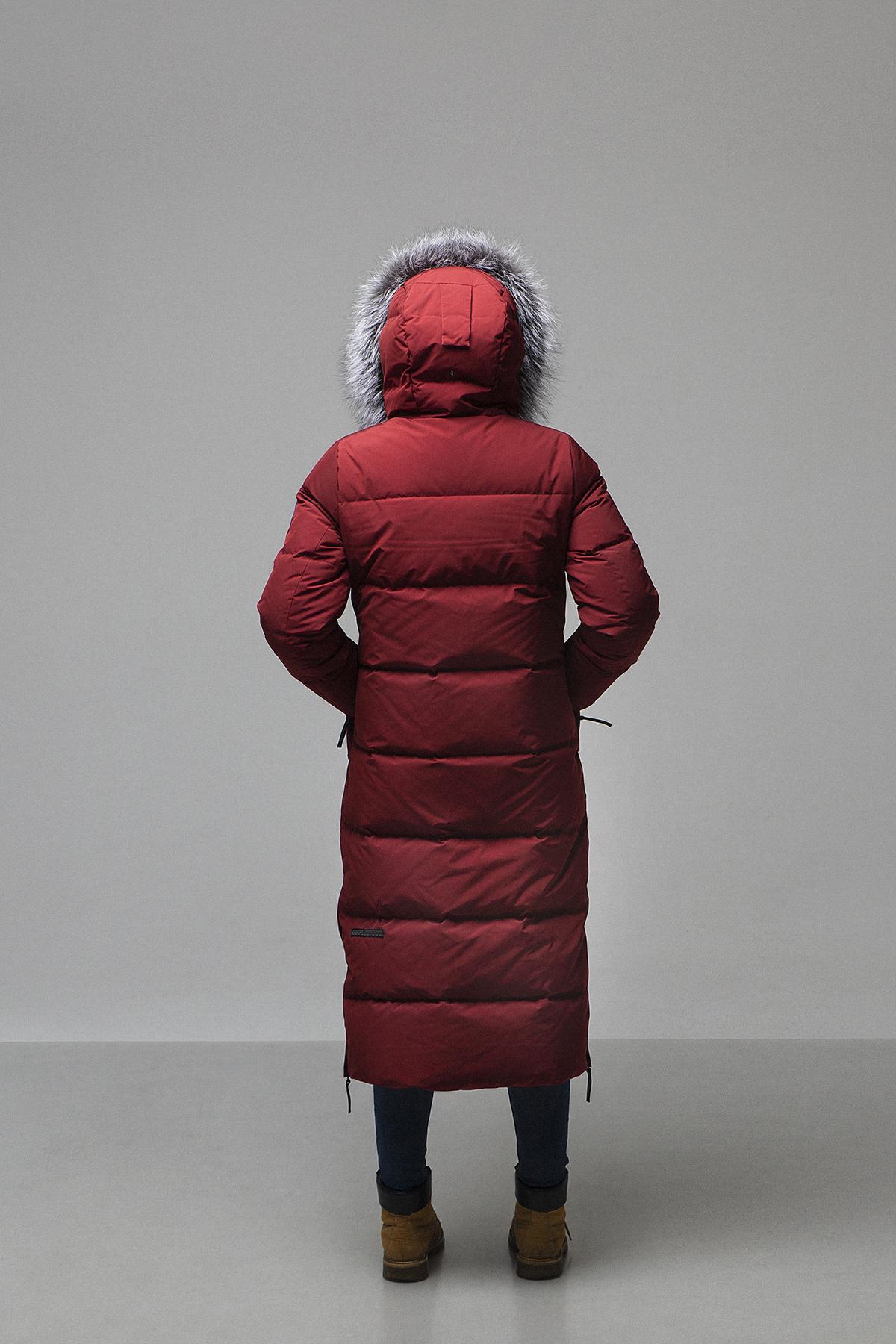 Пальто женское Эстери/NordicE винный Laplanger — фото 3