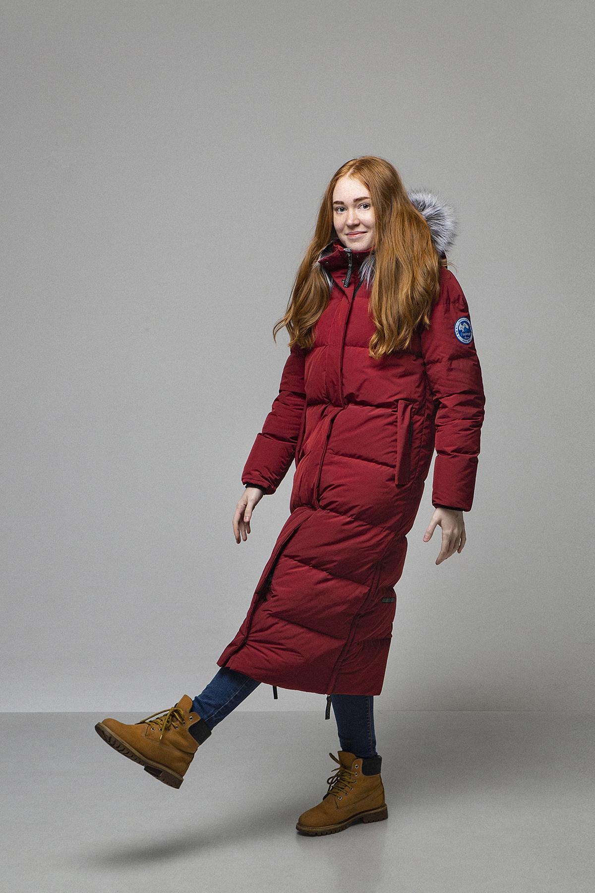 Пальто женское Эстери/NordicE винный Laplanger — фото 2