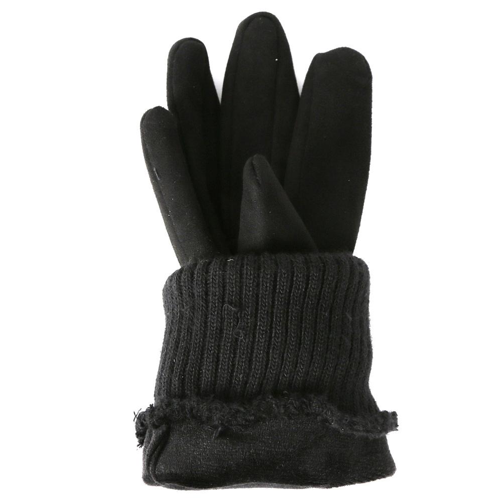 Перчатки женские FABRETTI TH55-1 черный Fabretti — фото 2