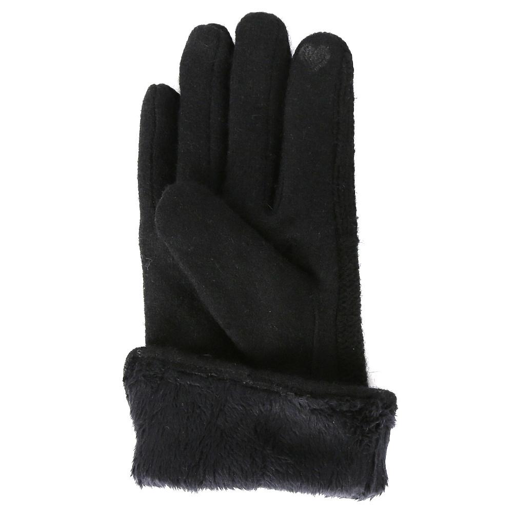 Перчатки женские FABRETTI TM18-1 Чёрный Fabretti — фото 3