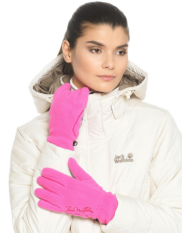 Перчатки NANUK PAW розовый Jack Wolfskin — фото 3