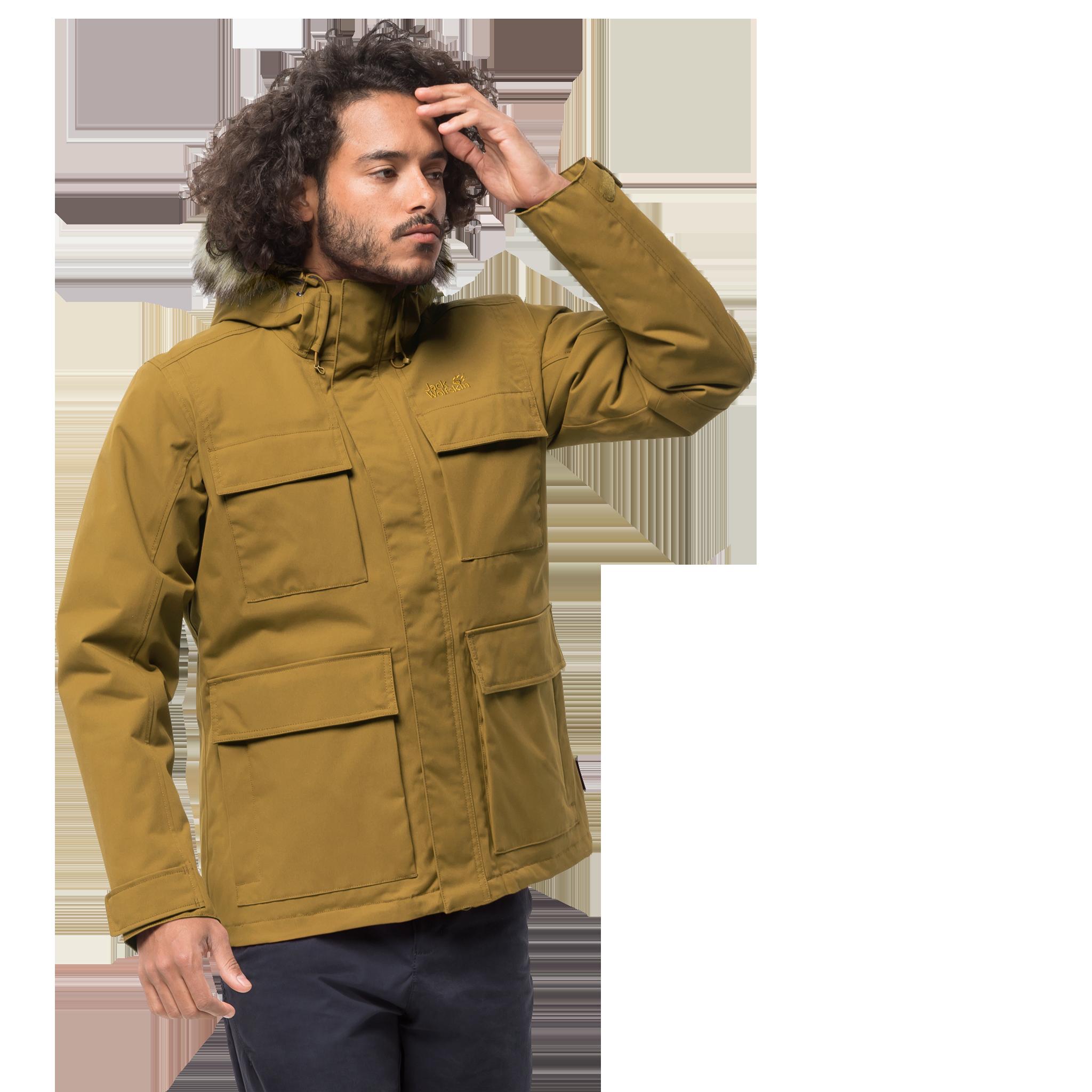 Куртка мужская POINT BARROW желтый Jack Wolfskin — фото 2