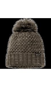 Шапка HIGHLOFT KNIT CAP W коричневый Jack Wolfskin — фото 1