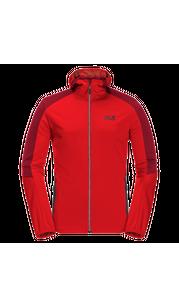 Куртка мужская GO HIKE SOFTSHELL красный Jack Wolfskin — фото 1