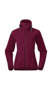 Куртка женская флисовая Hareid Fleece, бордовый Bergans — фото 1