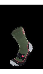 Носки BRBL URSO 2 Olive green/Black/Neon coral BRBL — фото 1