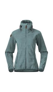 Куртка женская флисовая Hareid Fleece, зеленый Bergans — фото 1