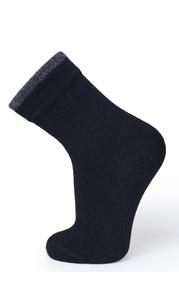 Носки детские Dry Feet для мембранной обуви Черный с серой полосой Norveg — фото 1