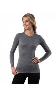 Футболка женская Soft (Woolmark) с длинным рукавом Серый меланж Norveg — фото 1