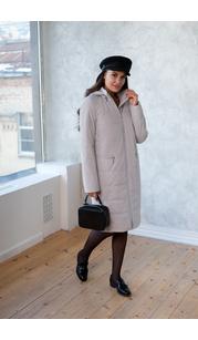 Пальто женское дс 880 Светло-серый Nord Wind — фото 1