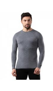 Футболка мужская Soft (Woolmark) Серый меланж Norveg — фото 1
