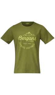 Футболка мужская CLASSIC TEE Dk GreenOasis/GreenOasis Bergans — фото 1
