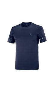 Футболка мужская AGILE SS TEE M темно-синий Salomon — фото 1
