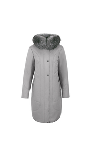 Куртка женская зима 3158F/100 светло-серый LimoLady — фото 1