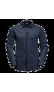 Рубашка мужская KENOVO LS SHIRT темно-синий Jack Wolfskin — фото 1