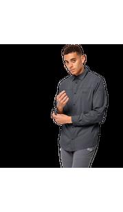 Рубашка мужская KENOVO LS SHIRT серый Jack Wolfskin — фото 1