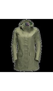 Куртка женская CAPE YORK PARADISE COAT W зеленый Jack Wolfskin — фото 1