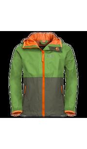 Куртка RAINY DAYS KIDS зеленый (164-176) Jack Wolfskin — фото 1