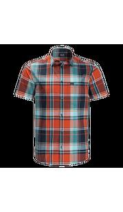 Рубашка мужская LITTLE LAKE красный, клетка Jack Wolfskin — фото 1