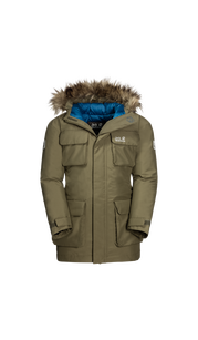 Куртка ICE EXPLORER JACKET KIDS оливковый (164-176) Jack Wolfskin — фото 1